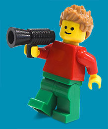 Lego man with megaphone